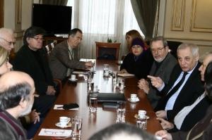Intilnirea consiliului de conducere al ANUC cu Ministrul Muncii